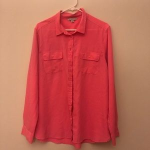 Coral button up shirt
